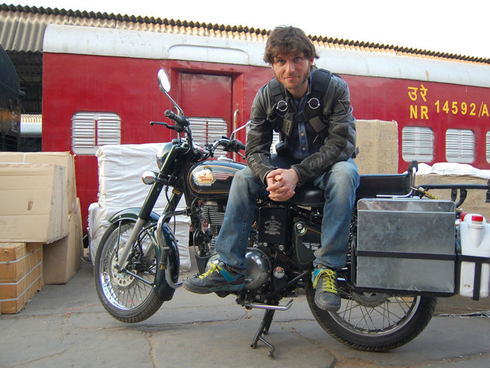 Guy Martin in India with his Royal Enfield