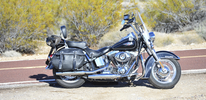 Harley-Davidson in the Mojave desert 700px