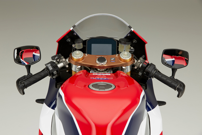 Honda RC213V-S centre display and console up close