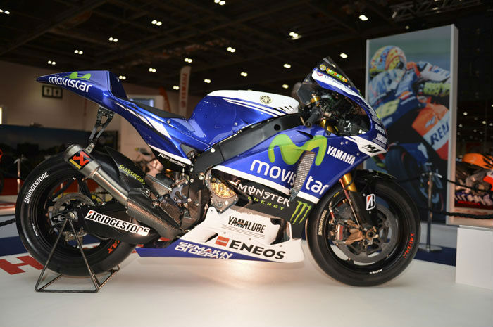 Valentino Rossi's 2014 MotoGP model at the MCN London Motorcycle Show