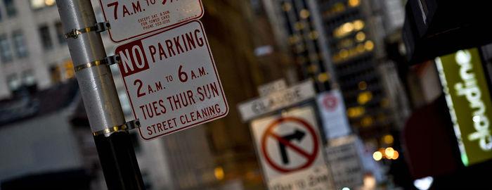 San Francisco street parking sign