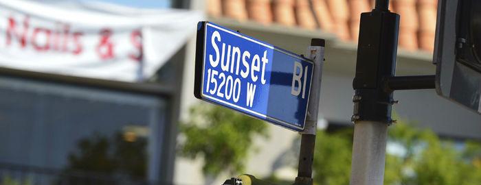 Sunset Boulevard sign