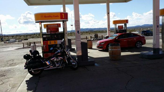 Petrol station stop