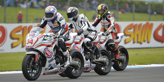 riders on track during EJC round four at Donington Park 2015 700px