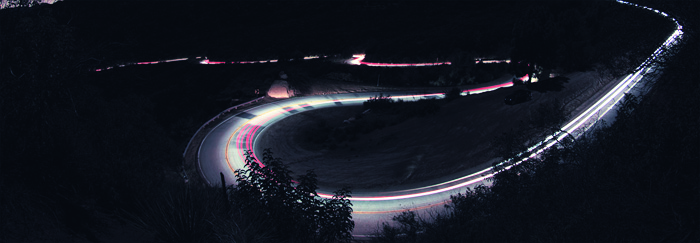 winding road at night 700px