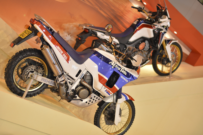 Honda Africa Twins through the ages on display at Motorcycle Live 2015