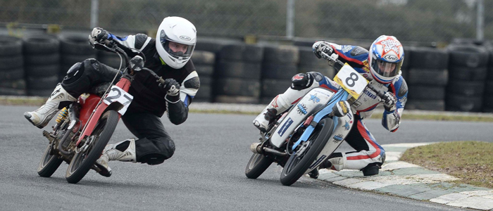 Dan Drayton getting his knee down on the track at the Nifty Fifty in Ireland