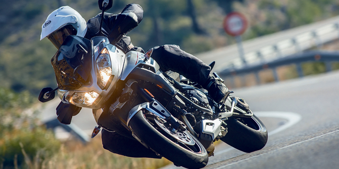 Triumph Tiger Sport 1050cc on the road