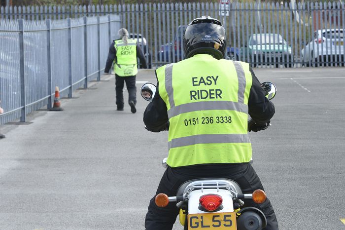 Beginner during the on site practical section of their CBT