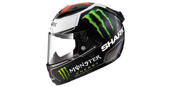 Jorge Lorenzo's new SHARK Race-R PRO lid