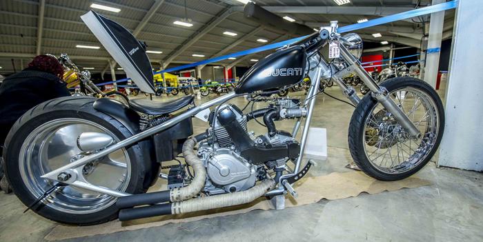 Ducati Chopper custom at Kickback show 2016