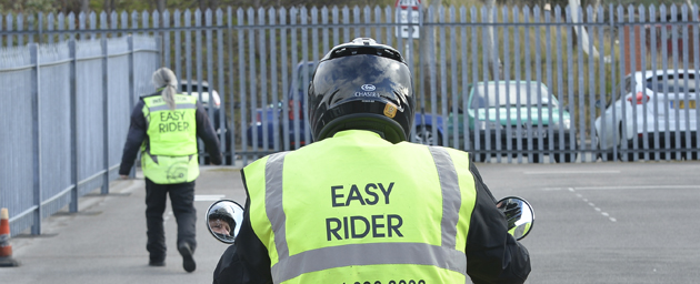 Arai Chaser V lid in use during a CBT