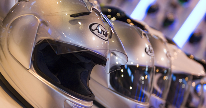 Arai helmets on display at motorcycle Live (700px)