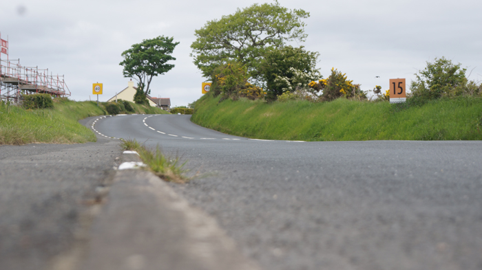 Mile 15 on the famous Isle of Man TT course
