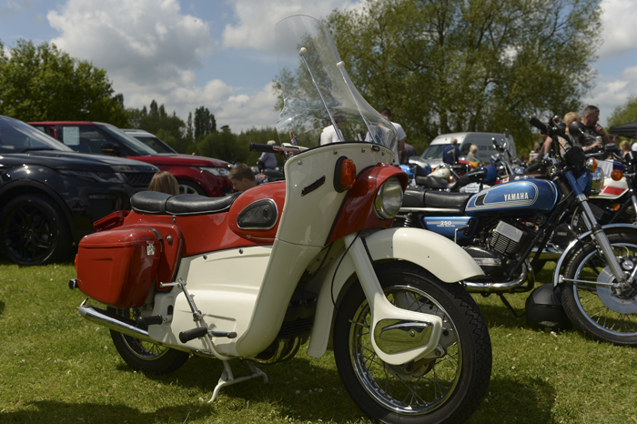Modified classic scooter on display at the 2016 Herts Auto Show