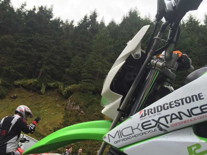 Mick Extance off road experience sponsored by Bridgestone (content)