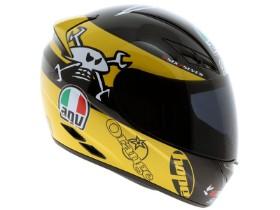 AVG K3 Guy Martin Black and yellow motorcycle crash helmet