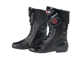 DXR noir black motorcycle boots