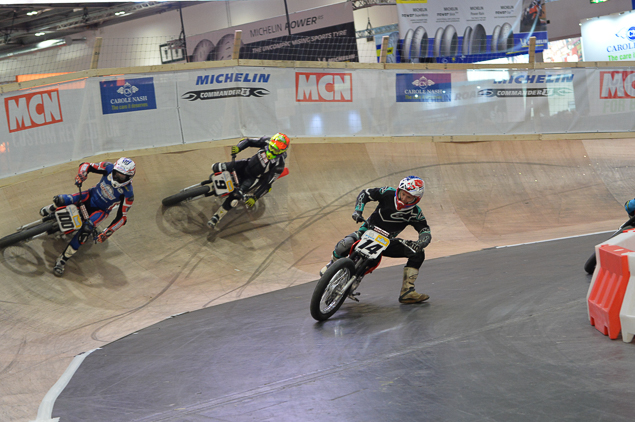 Motorbikes racing in the Thunderdrome