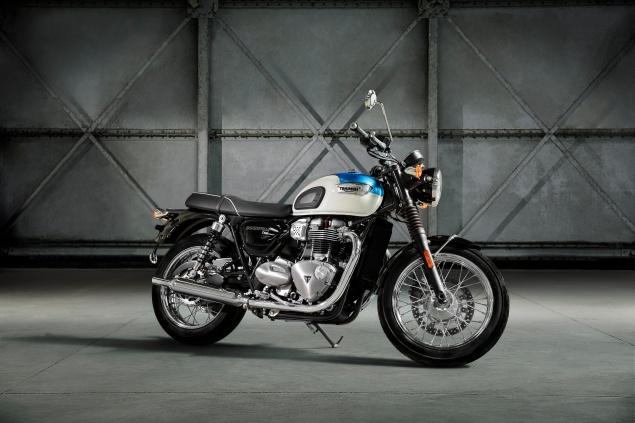 Triumph T100 static