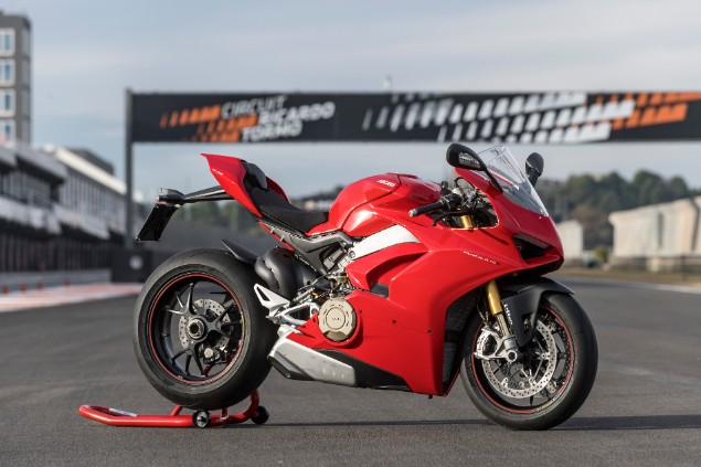red-ducati-panigale-motorcycle-static