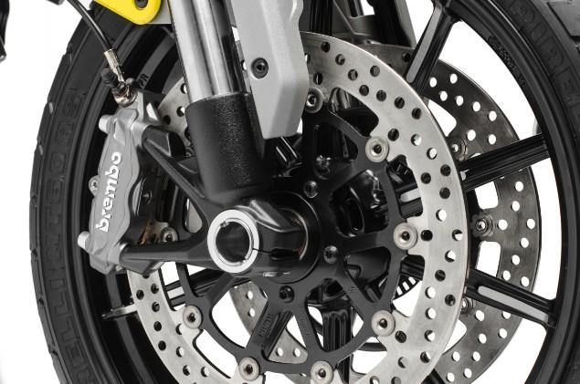 close-up-shot-of-yellow-scrambler-1100-motorbike