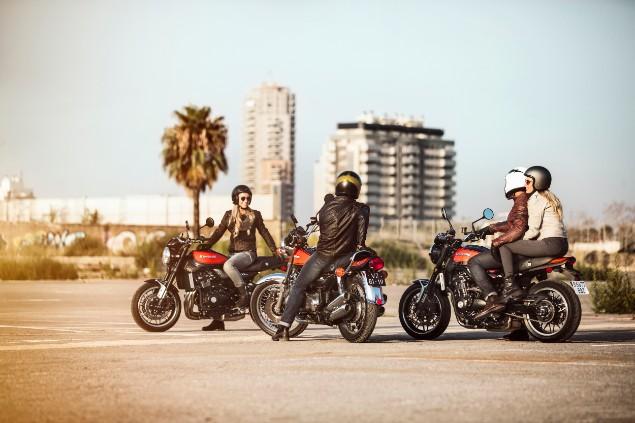 three-kawasaki=motorbikes