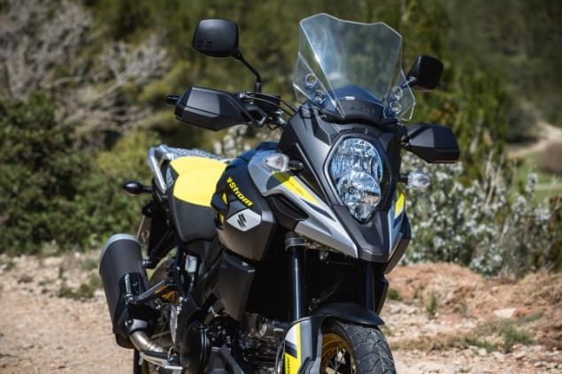 black-suzuki-vstrom-motorbike