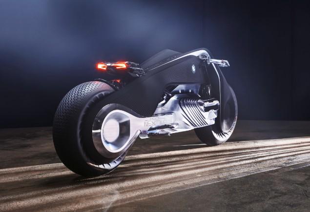 silver-bmw-motorrad-stationary-in-dark