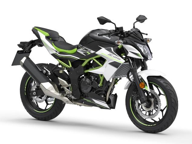 Black-and-lime-green-2019-Kawasaki-Z125-motorbike-stationary