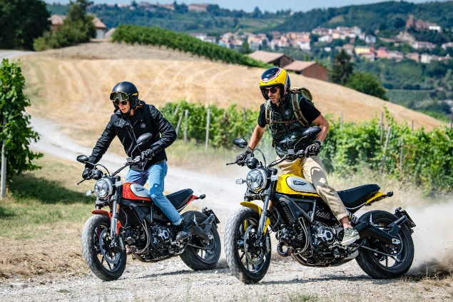 Two-riders-in-action-with-Ducati-MY19-scrambler-bikes