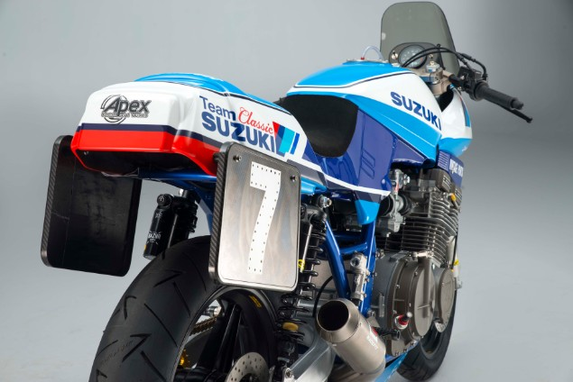 Rear-end-of-Team-Classic-Suzuki-GSX1-motorcycle