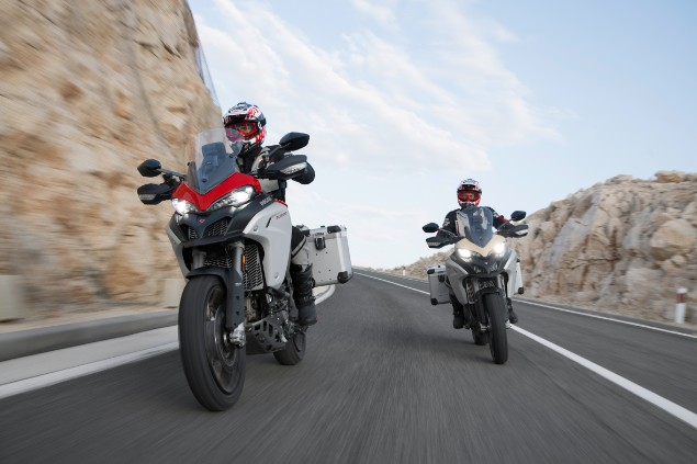 Two-Ducati-Multistrada-1260-motorcycles-rinding-together