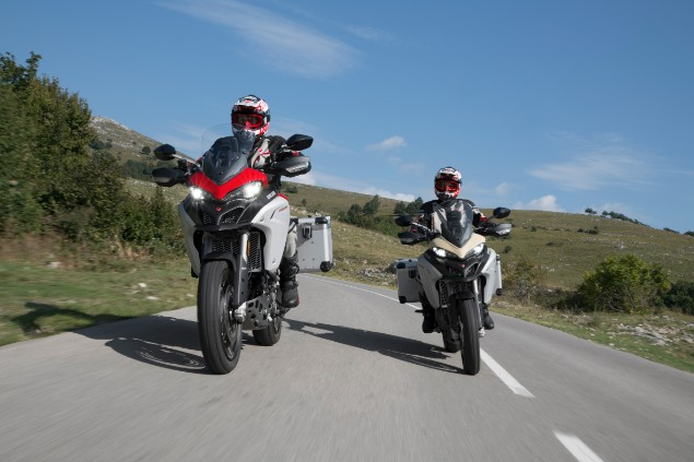 two-motorbikers-riding-ducati-multistrada-1260-enduro
