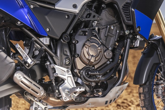 2019 yamaha tenere 700 twin engine close up