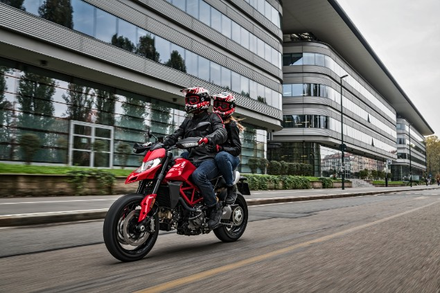 Two riders on new Ducati Hypermotard 950