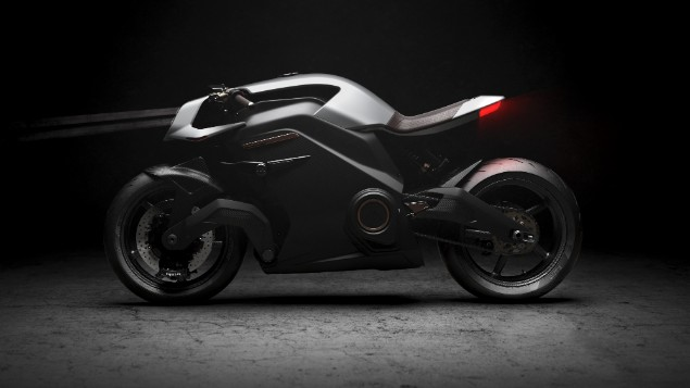 Arc Black Vector electric motorcycle stationary