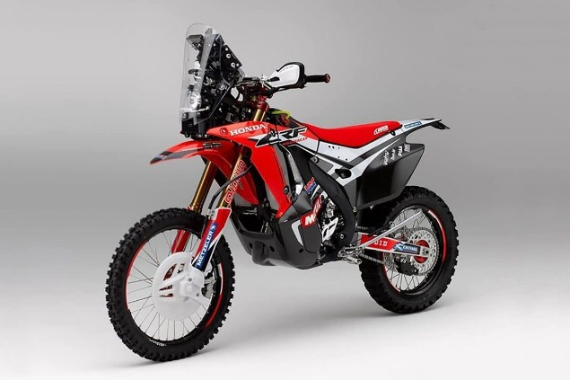Honda CRF450L Rally parked
