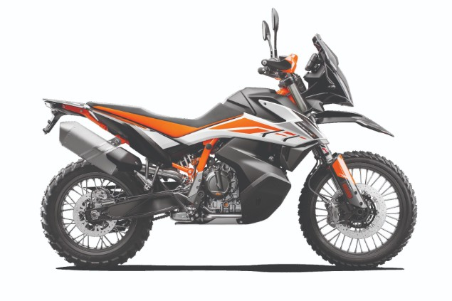 KTM 790 Adventure R MY 19 motorcycle stationary