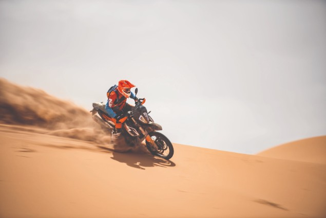 KTM 790 Adventure motorcycle riding offroad