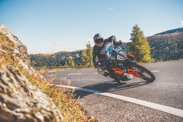 KTM 790 Adventrure motorcycle in action
