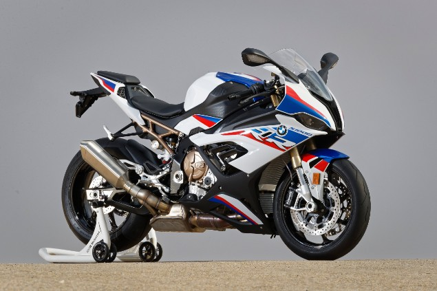 BMW S1000RR motorbike stationary