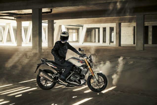 Motorcyclist stationary on new 2019 BMW R1250 GS Adventure