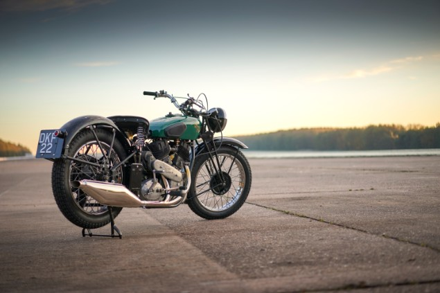 Royal Enfield KX motorcycle parked on road stationary