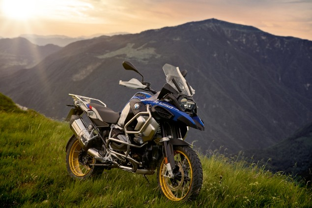 2019 BMW R1250GS Adventure parked on mountain edge