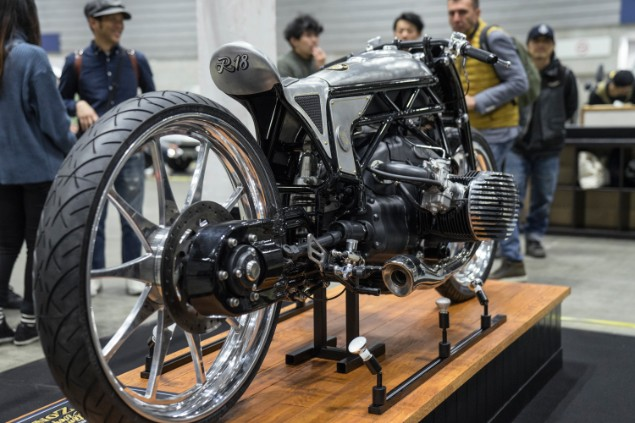 BMW R18 custom proptotype motorcycle on display in museum