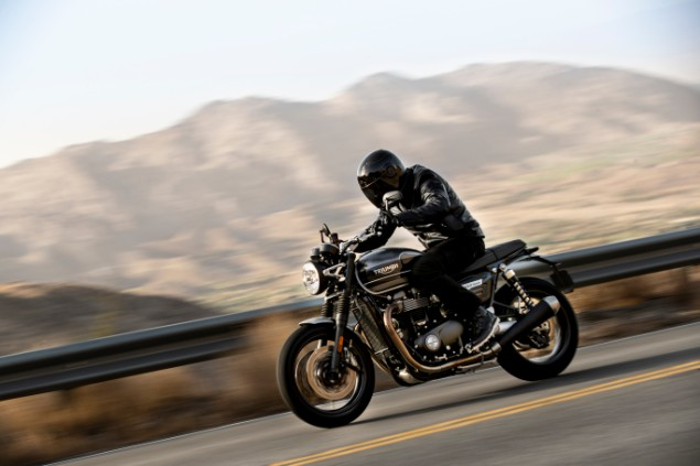 2019 Triumph Speed Twin motorcycle in action