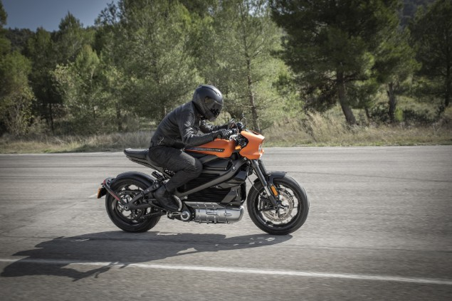 Harley-Davidson motorcycle in action
