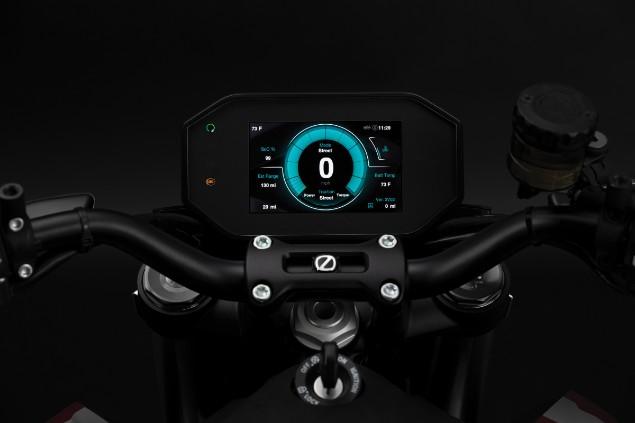 Zero SRF motorcycle Dashboard interface