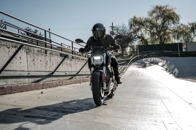 2020 Zero SRF motorcycle outdoors in action